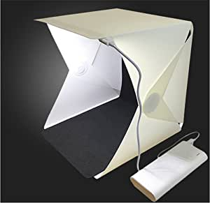 Portátil Plegable Caja de Fotografía Estudio Iluminación Luz LED Tienda ES