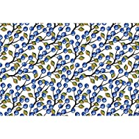 Artzfolio Blueberries Around Art & Craft Gift Wrapping Paper 18 X 12Inch;Set of 10 Pcs