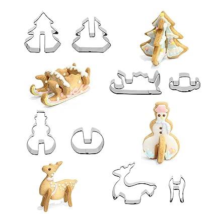 Moldes para galletas con motivos navideños, de la marca Veylin, para niños, 8
