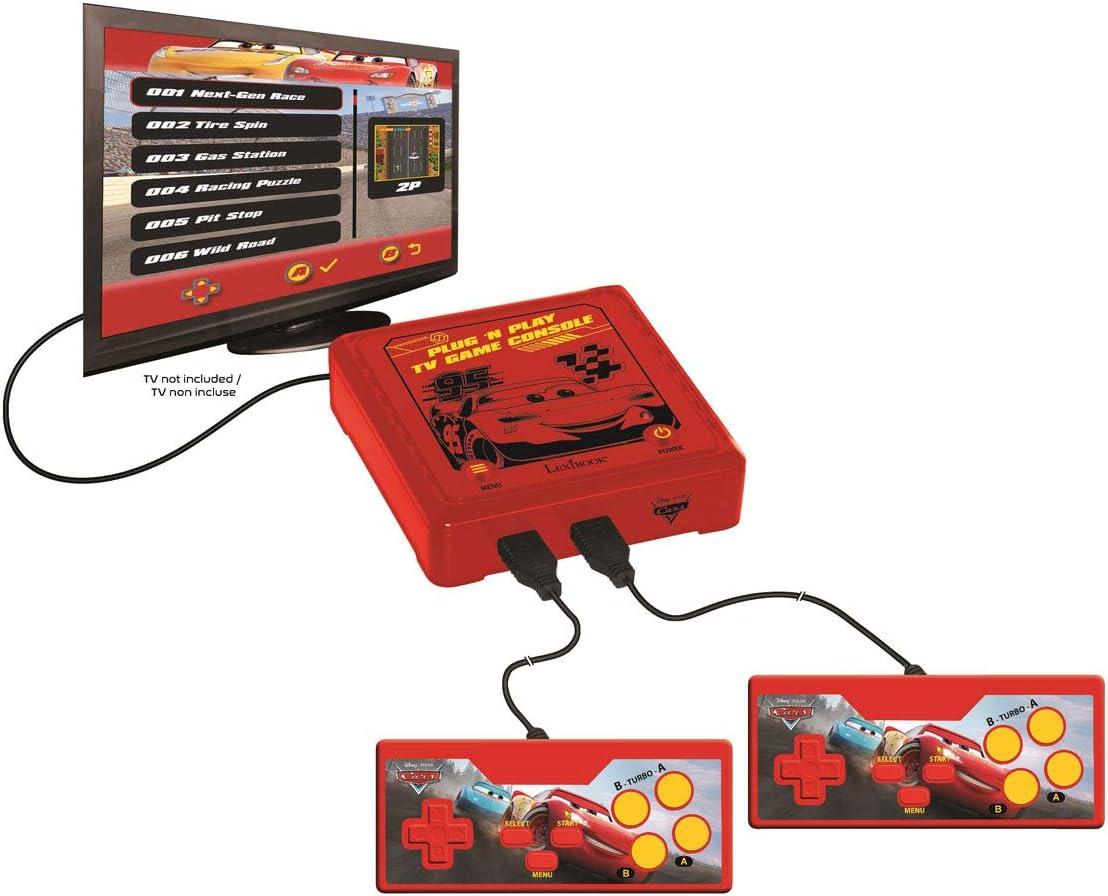 Amazon.es: LEXIBOOK JG7800DC-1 Plug N Play - Consola de Juegos para TV (300 Juegos), Color Rojo