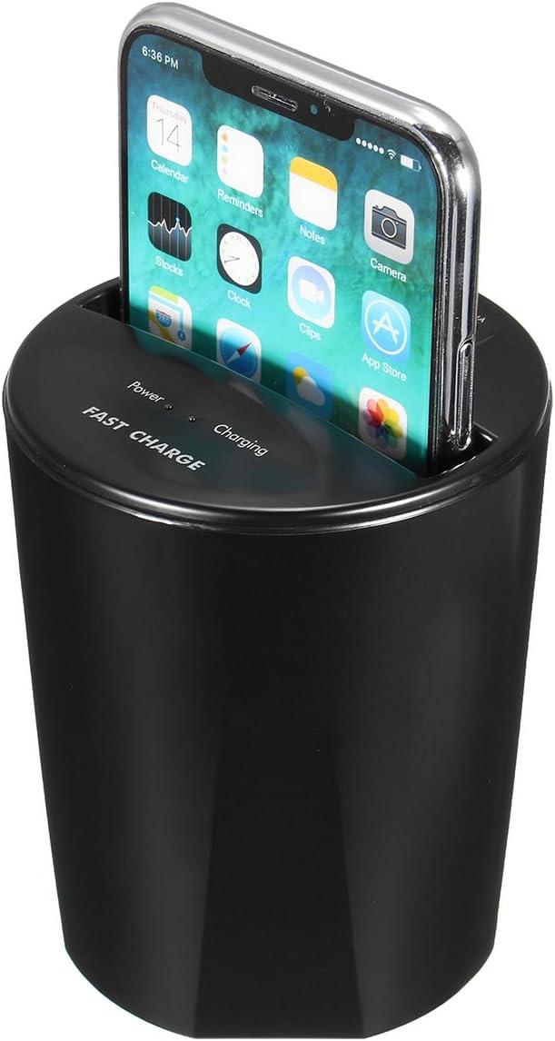 YONGYAO 10W Veloce Qi Wireless Auto Tazza Titolare Uscita del Caricabatterie USB per iPhone X 8 S8