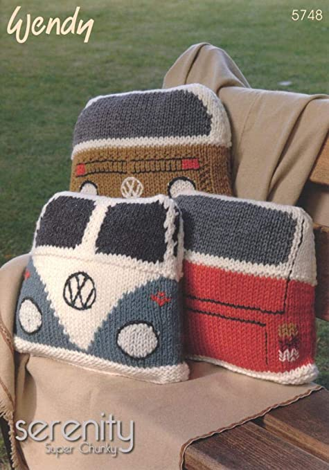 Wendy Serenity Super Chunky Campervan Cushion Knitting Pattern 5748