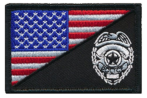 Patch Squad Men's USA FLAG/ Police Eagle Logo SWAT Patch (Swat Police Patch)