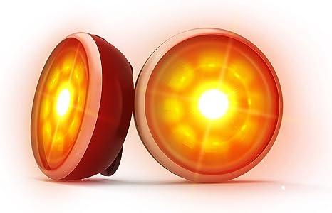 VOGEK Luz de Seguridad LED de 2 Pares, Clip para Mantenerse Seguro ...