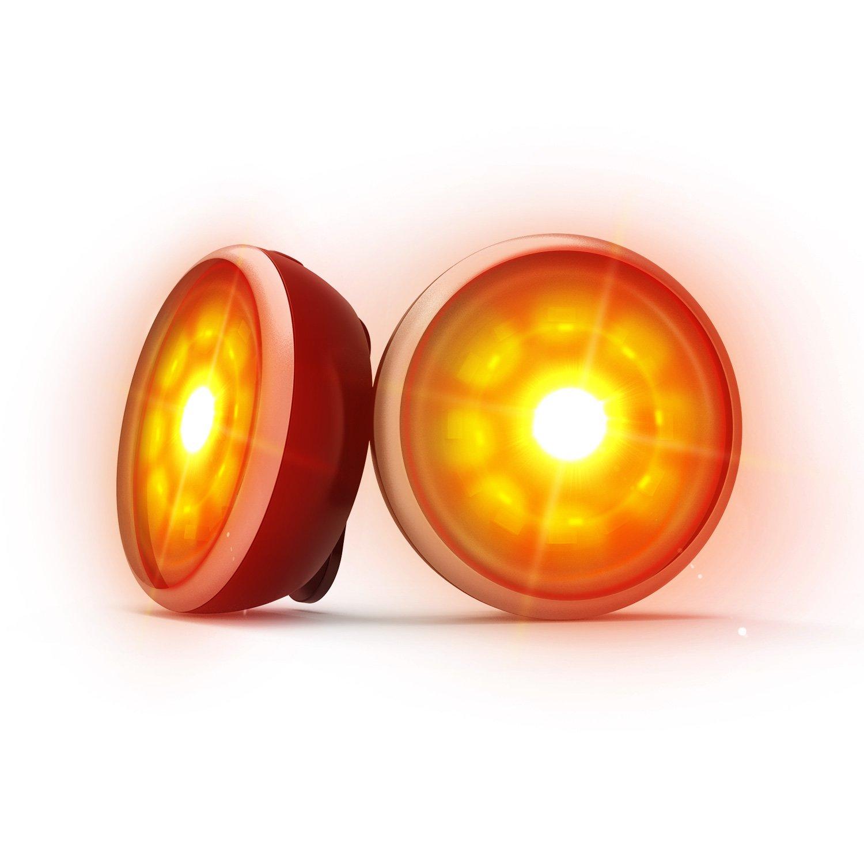 VOGEK LED Sicherheitslicht, 2Pack Fahrrad Rücklicht USB Wiederaufladbare IPX6 Wasserdichte Taschenlampe, 4 Modi Outdoor LED Licht für Joggen, Spazieren, Radfahren, Gassi Gehen und Hundegespanne