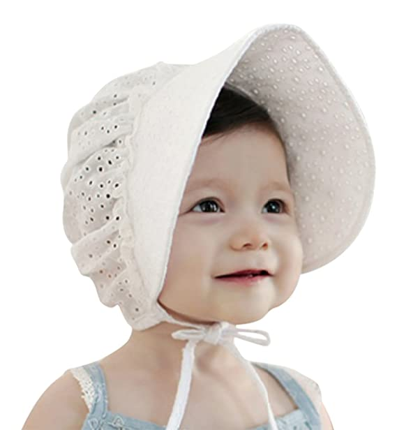 58462e5be92 Sumolux Summer and Spring Baby Newborn Sweet Lace Princess Fishing hat  Hollow Court Cap Sun hats  Amazon.in  Clothing   Accessories