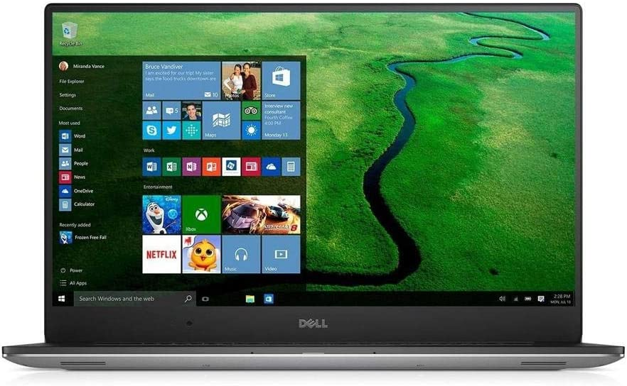 Dell Precision M5520 Intel Core i7-7820HQ X4 2.9GHz 16GB 512GB SSD, Silver (Renewed)