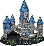 BLUE RIBBON PET PRODUCTS 030157016548 Exotic Environments Blue Spire Castle Blue/Gray