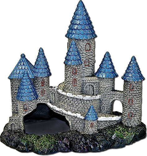 Blue Ribbon PET PRODUCTS 030157016548 Exotic Environments Blue Spire Castle Blue/Gray