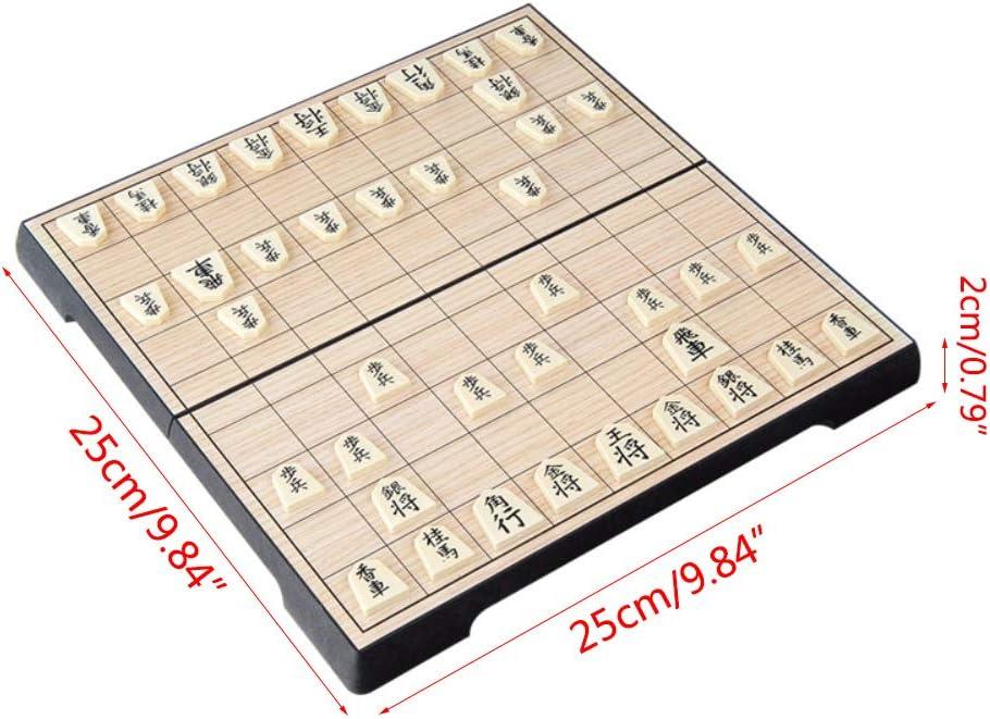 M-HUA Shogi Pliable Magn/étique Pliable Set en Bo/îte Portable /Échecs Japonais Enfants Enfants Fournitures de Jeu