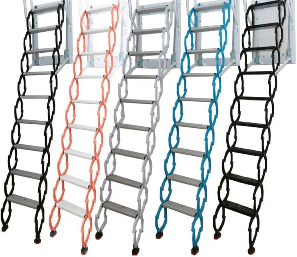 escalera plegable gruesa Acero,H//1.7M dise/ño nuevo de f/ábrica Escalera de escalera de pared de /ático de metal de acero de alta resistencia 1-4 m escalera de /ático