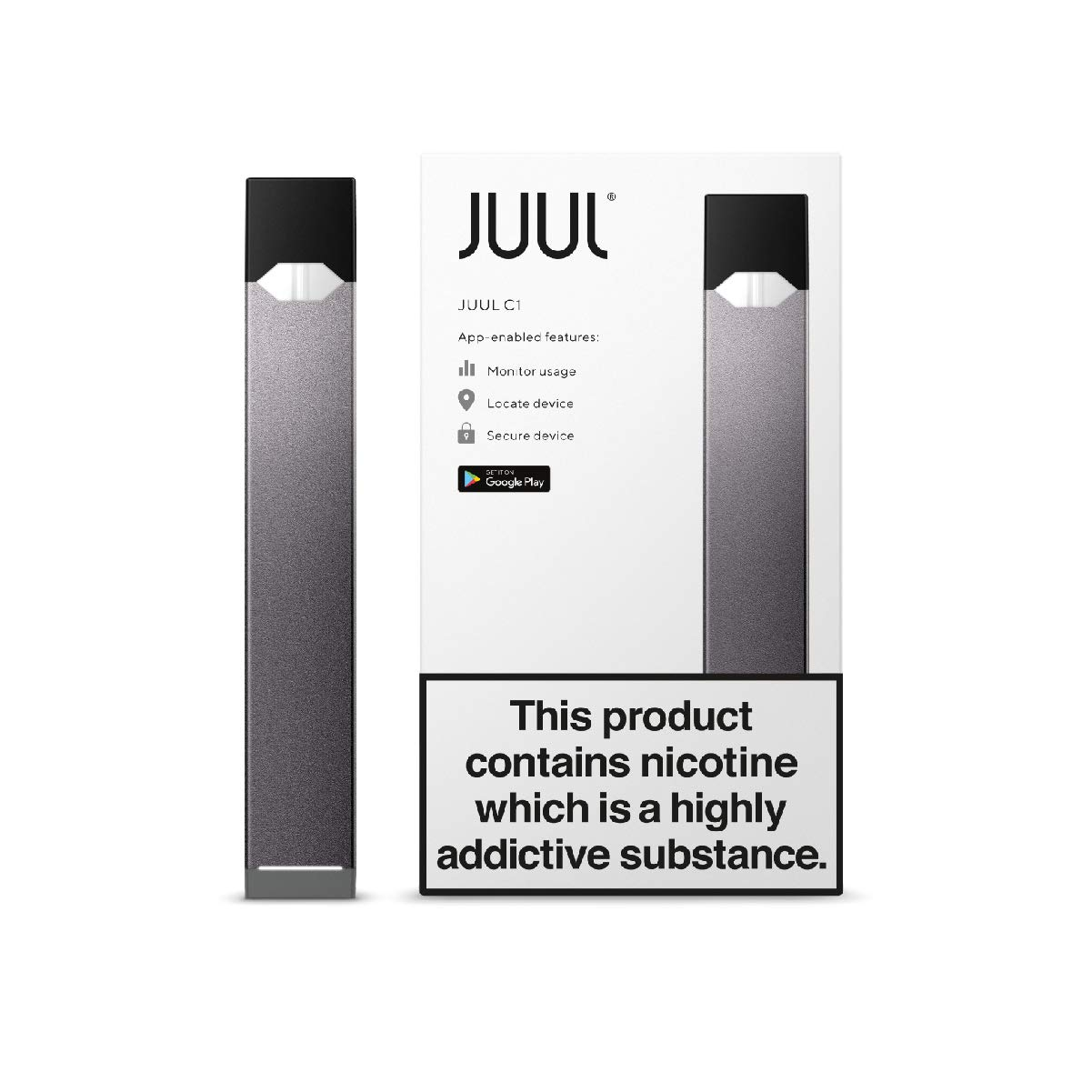JUUL C1 Device Kit, Slate Grey, E-Cigarette (JUULpods not included/No Nicotine)