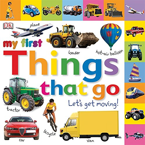 Tabbed Board Books Things Moving