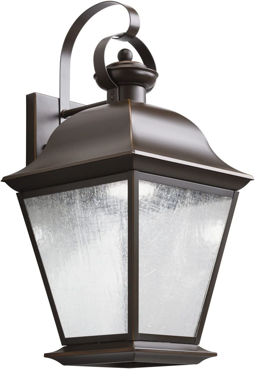 Kichler 9709OZLED, Mount Vernon Cast Aluminum Outdoor Wall Sconce Lighting LED, Olde Bronze
