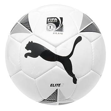 Puma Elite 2 FIFA Aprobado fútbol Blanco/Negro/Plateado de balón ...