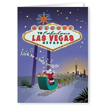 Amazon las vegas christmas cards 18 cards envelopes las vegas christmas cards 18 cards envelopes welcome to vegas m4hsunfo