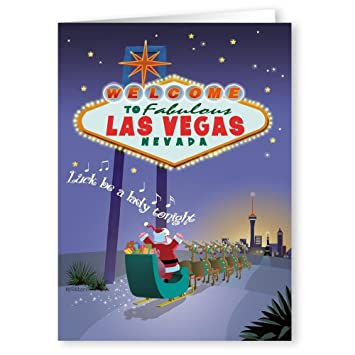 Christmas In Vegas.Las Vegas Christmas Cards 18 Cards Envelopes Welcome To Vegas