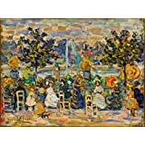 Maurice Prendergast Giclee Canvas Print Paintings Poster Reproduction (In Luxembourg Gardens)