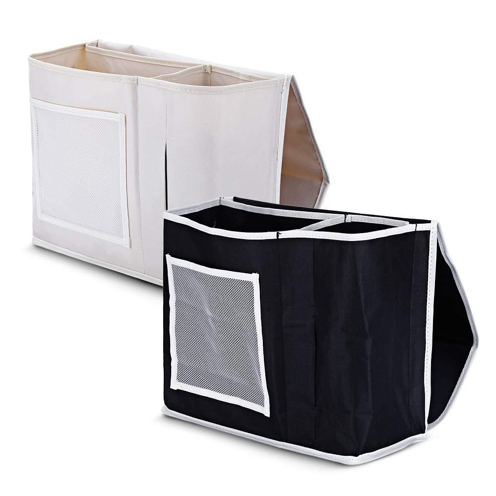 EasyinSmile Bedside Hanging Storage Bag for Bunk Bed Black Under Mattress Organizer Bag for Bed and Sofa