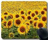Sunflowers Mousepad,Custom Rectangular Mouse Pad