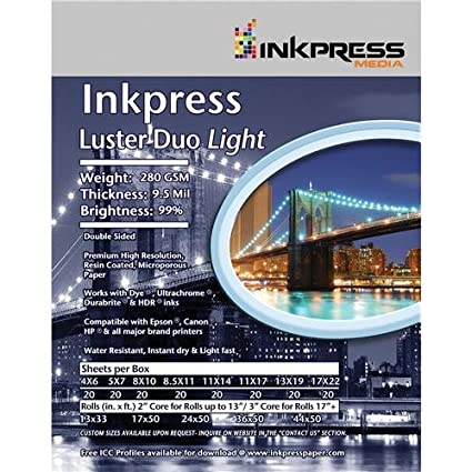 Inkpress Luster Duo, doble cara para impresora de inyección ...