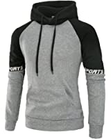 PIZZ ANNU Mens Fashion Hip Hop Basic Pullover Hoodie Jacket
