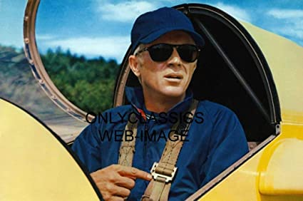 ec3933e8e2 Image Unavailable. Image not available for. Color  OnlyClassics Steve  McQueen Buckled INTO Airplane Glider 8X12 Photo Sunglasses Thomas Crown  Affair