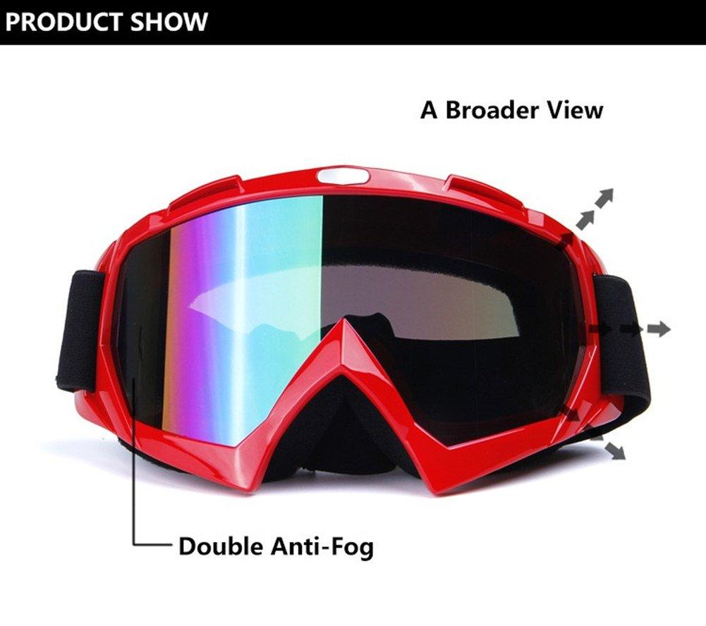 Youth Women Runspeed Adult Motorcycle Motocross Goggles ATV Racing Dirt Bike Mx Glasses UV Protection Snow Ski Snowborading Goggles Men