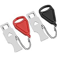 Draagbaar deurslot 2 stuks, Pocket Travel Deurslot,extra slot, Solid Heavy Duty Lock Voorkom ongeautoriseerde toegang…