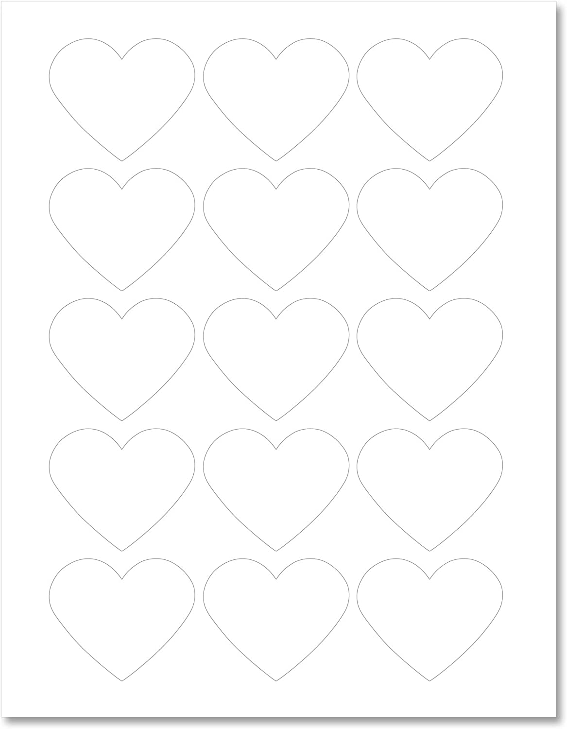 with Downloadable Template and Printing Instructions 5 Sheets HTB1 75 Labels Textured Brown Kraft Heart Shaped Labels 2.2 x 1.8 Inches