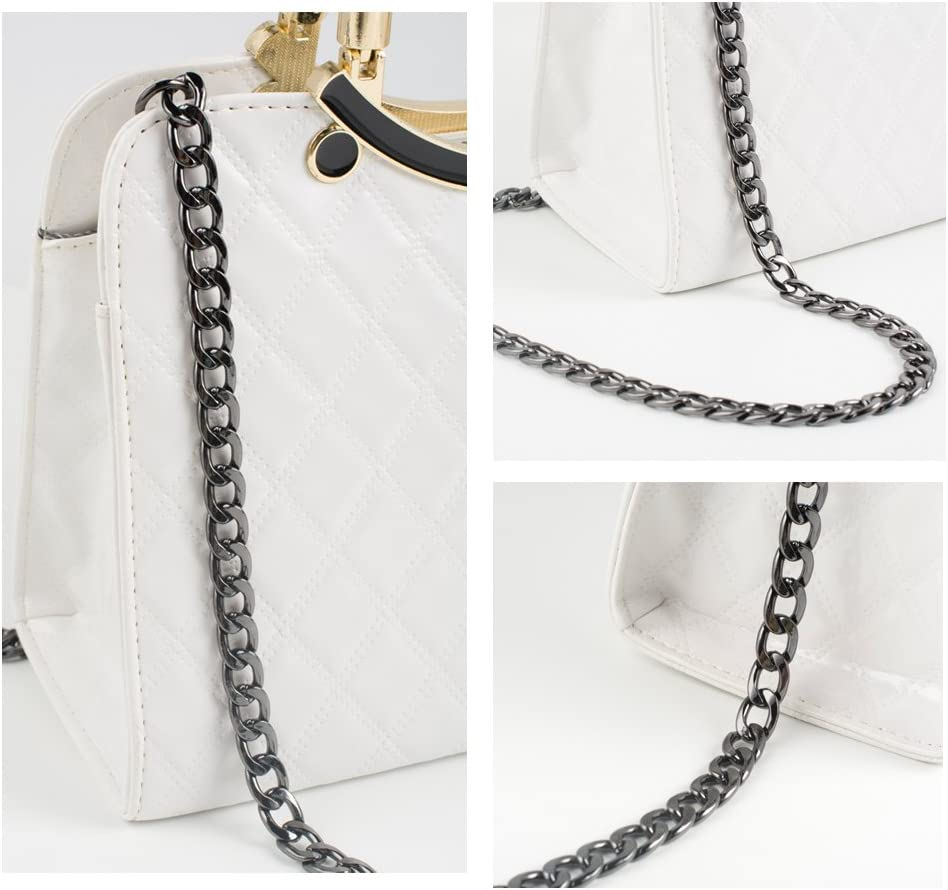 Myathle 12MM Width Purse Chain Strap Replacement Length 39 Gold Plated Metal Chain Handbags Strap for Clutch Wallet Satchel Tote Bags Shoulder Crossbody Bag Chain Replacement Strap