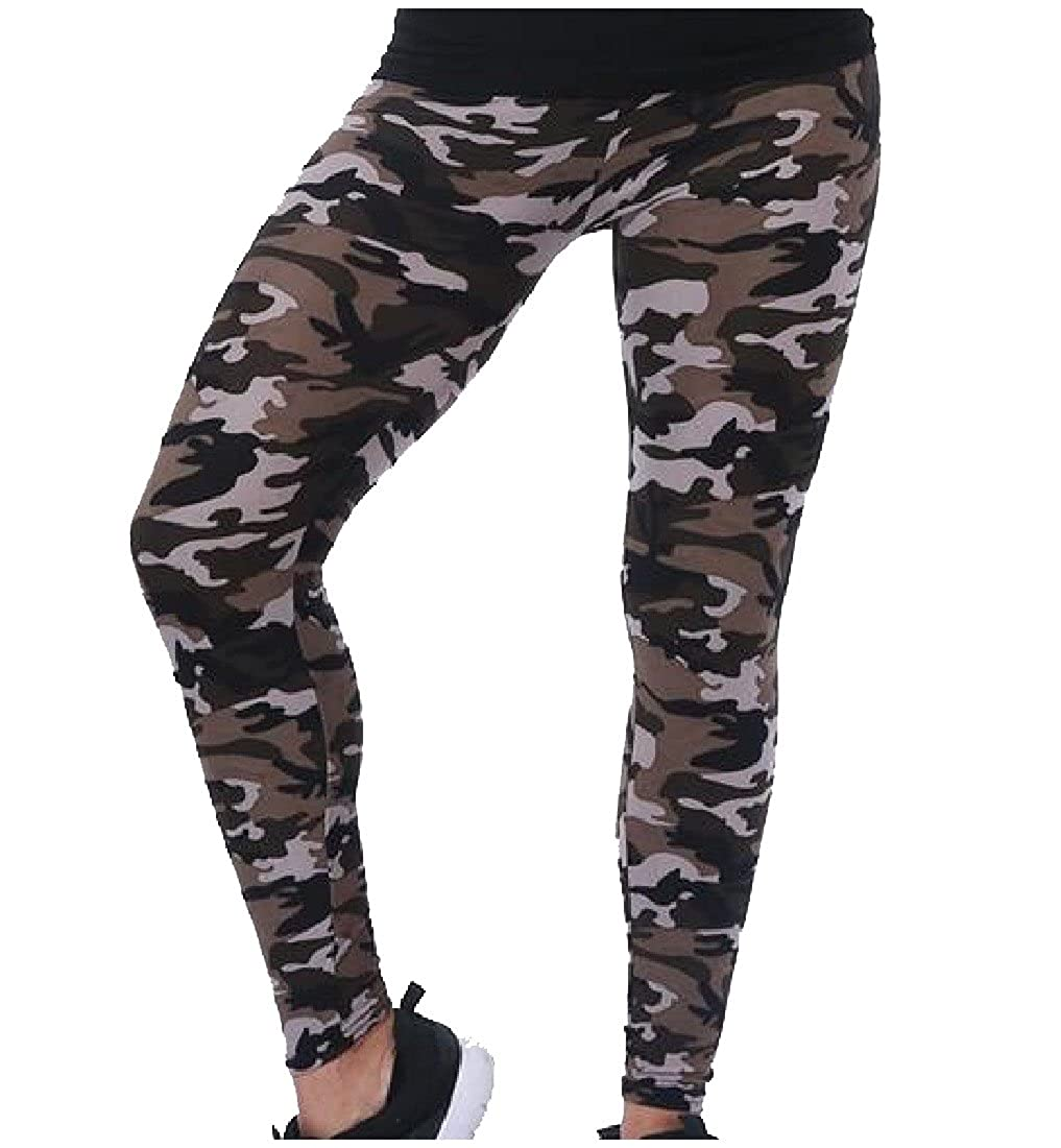 Zimaes Women Yoga Fashion Camouflage Running Leggings Yoga Pants