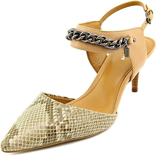 Womens Shoes COACH Garland Natural/Nude Print Snake/Matte Calf