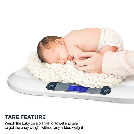 Smart Weigh Digitale Babywaage mit großem hintergrundbeleuchteten LCD-Display 3