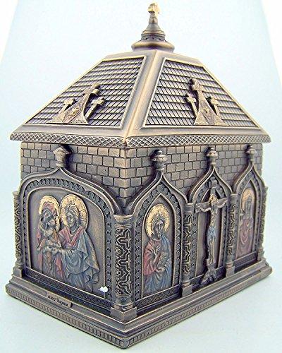(Religious Catholic Gift Cold Cast Bronze 5 7/8 Inch Church Chapel Icon Rosary Keepsake Trinket)
