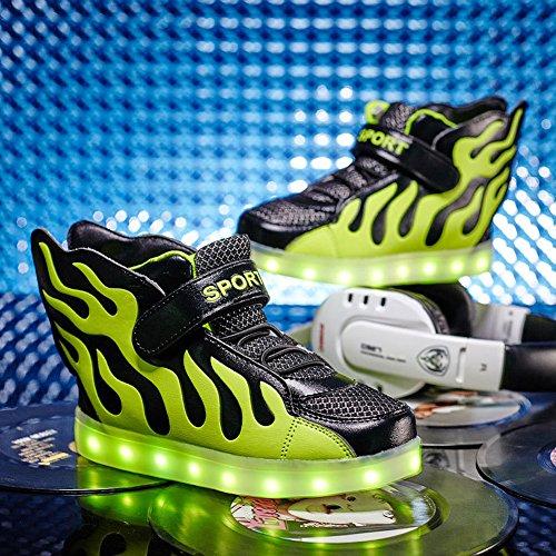 Aidonger - Zapatillas de running de Material Sintético para niño Grünschwarz