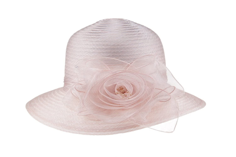 Top4  Prefe 1920s Womens Summer Organza Kentucky Derby Dress Bowler Sun Hat  Derby Tea Party cde7aae4845e