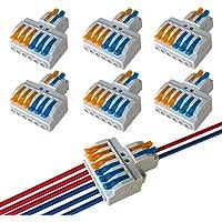 QitinDasen 6Pcs KV426 Palanca Tuerca Cable Conector, 2 en 6 fuera Bilateral 8 Puertos Compacto Conductor Conector…