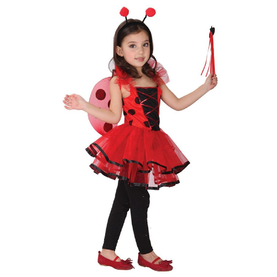 Cute Ladybug Costume Fantasia Girls Halloween Cosplay by Crystalbella Inflatable Cos