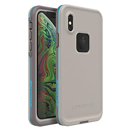 big sale 367f4 28347 Lifeproof FRĒ Series Waterproof Case for iPhone Xs - Retail Packaging -  Body SURF (Cement/Gargoyle/Hawaiian Ocean)
