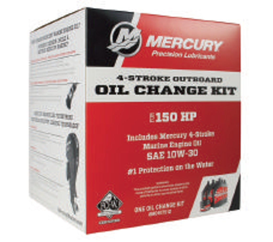 Mercury Marine New OEM 10W-30 Fourstroke Outboard Oil Change Kit, 150HP, 8M0107512 by Mercury Marine