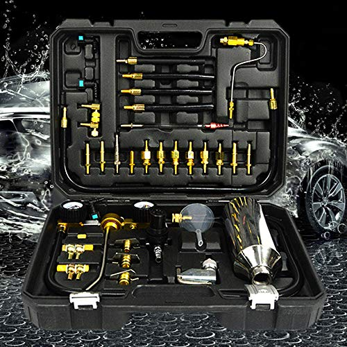 FLBETYY Automotive Non-dismantle Fuel Injector Cleaner Kit & Tester with Case for Petrol Throttle Petrol Cars with Adapter Connectors 750ML Tank by FLBETYY (Image #8)