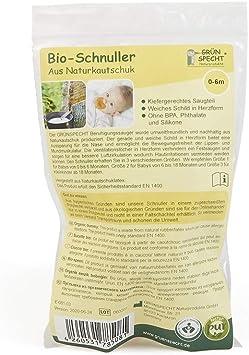 Gr/ünspecht 670-V1 T/étine bio en caoutchouc naturel 0-6 m