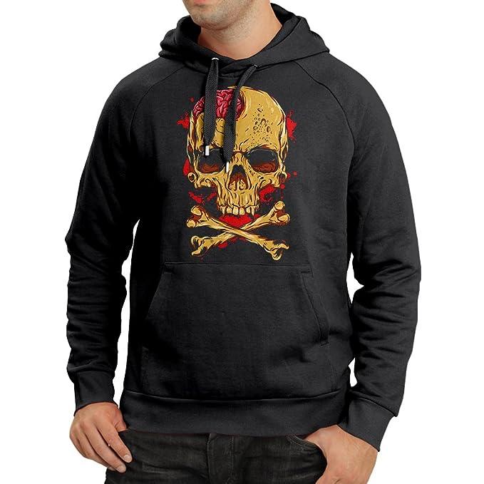 Amazon com: Hoodie Skull and Bones - Vintage, 80s, Rock and