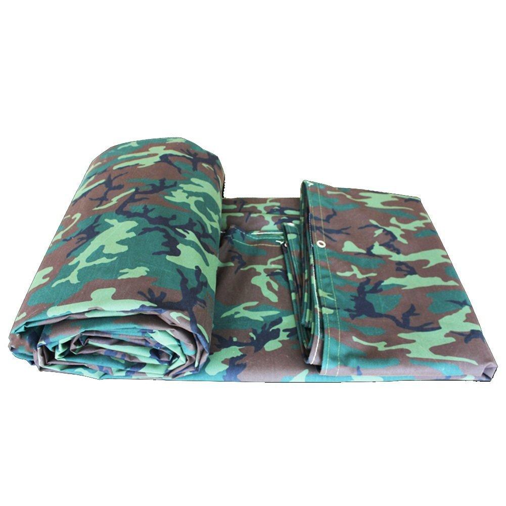 QINCH Regenschutz Tuch wasserdicht Canvas Plane Outdoor Schatten industrielle Abdeckung Tuch Sonnencreme Isolierung verschleißfest, Tarnung (Farbe   A, Größe   4x6M)