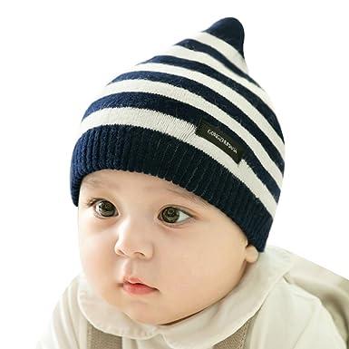 Juleya Sombreros y Gorras para bebé - Raya Beanie para 0 a 5 años Niños y Niñas Sombrero de Punto otoño y Invierno Gorros: Amazon.es: Ropa y accesorios