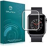『改善版』Dalinch Apple Watch 40mm フィルム Apple Watch ガラスフィルム3D全面保護 HD画面対応 気泡防止 耐指紋 Apple Watch Series 4 ガラスフィルム ブラック(1枚入り)