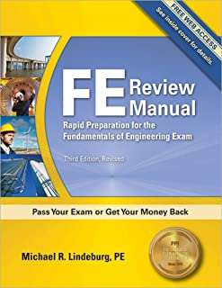 michael r lindeburg fe mechanical review manual paperback 2014 rh amazon com Fe Exam Fe Review Book