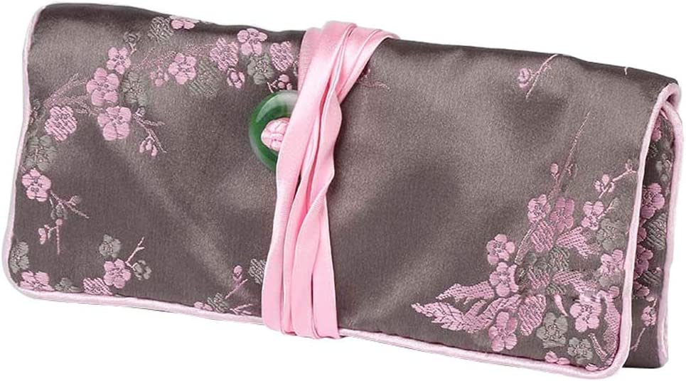 005 Koala Superstore 1 Piece Chinese Style Jewelry Roll Storage Bag Elegant Jewelry Organizer Case