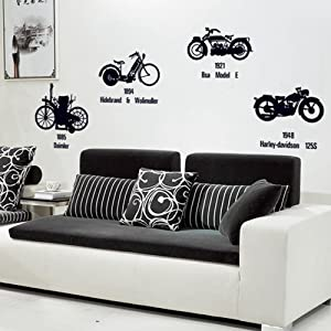 Vintage Motorcycle Wall Stickers Love Wall Decal Mural Home Decor